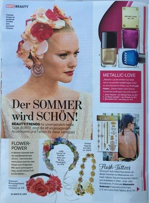 Bunte 2016 | Beitrag im Magazin Bunte vom 05.07.2016 über die neusten Frisuren Trends für heiße Tage | Seite 3 | Friseur München