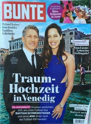 Bunte 2016 | Beitrag im Magazin Bunte vom 05.07.2016 über die neusten Frisuren Trends für heiße Tage | Cover | Friseur München
