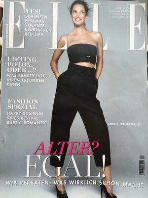 Elle 2016 | Beitrag im Magazin Elle vom 23.04.2016 über verjüngende Expertentipps für Haut und Haar | Cover | Friseur München