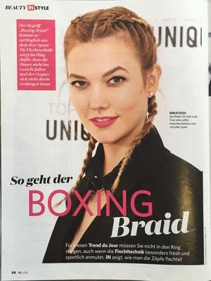 In | Beitrag im Magazin In vom 09.06.2016 über den Boxing Braid | Seite 1 | Friseur München