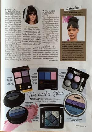 Bunte | Beitrag im Magazin Bunte vom 16.05.2016 über den neuen Pony Trend | Seite 2 | Friseur München
