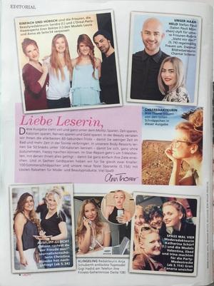 Joy | Beitrag im Magazin Joy vom 13.08.2016 über den Granny-Look | Seite 1 | Friseur München